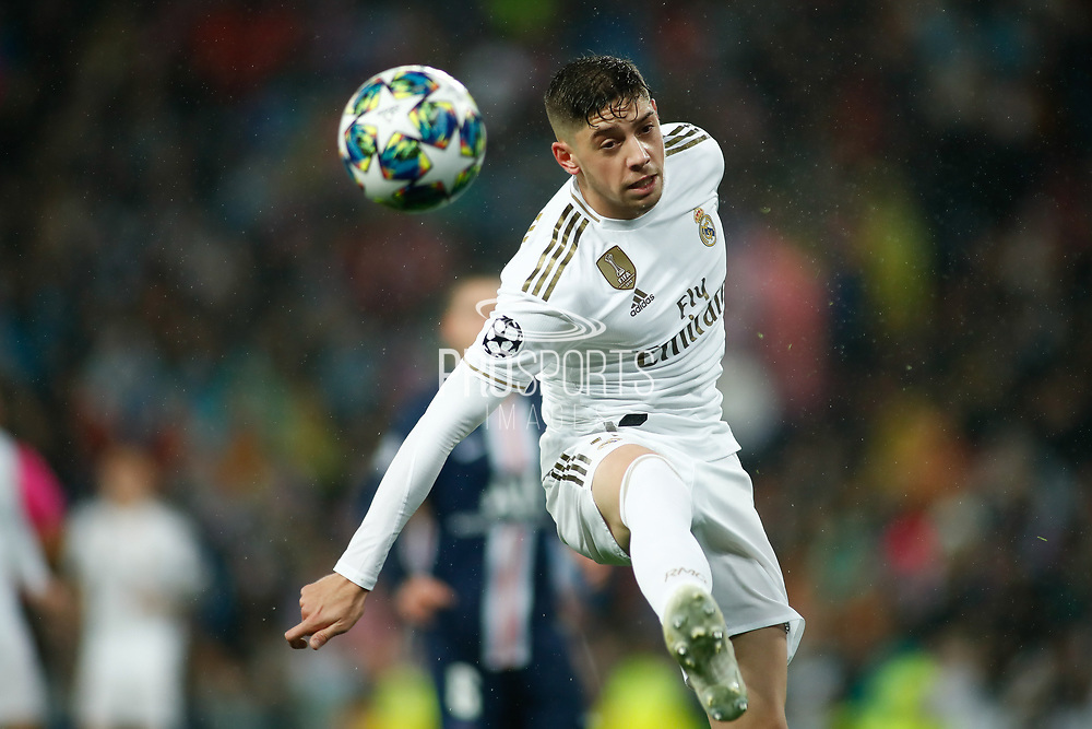Federico Valverde of Real Madrid during the UEFA Champions League, Group A football match between Real Madrid CF and Paris Saint-Germain on November 26, 2019 at Parc des Princes stadium in Paris, France - Photo Oscar J Barroso / Spain ProSportsImages / DPPI / ProSportsImages / DPPI