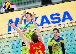 Uros Pavlovic of Slovenia during volleyball match between National teams of Slovenia and F.Y.R. Macedonia in Qualifications for 2015 CEV Volleyball European Championship - Men on May 24, 2014 in Arena Stozice, Ljubljana, Slovenia. Photo by Vid Ponikvar / Sportida