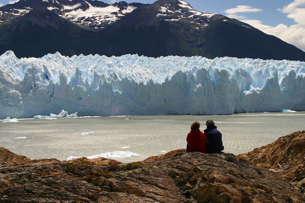 A view of the Upsala Glacier in Argentina's Los Glacieares National Park, Jan. 18, 2004. Daniel Beltra/Greenpeace