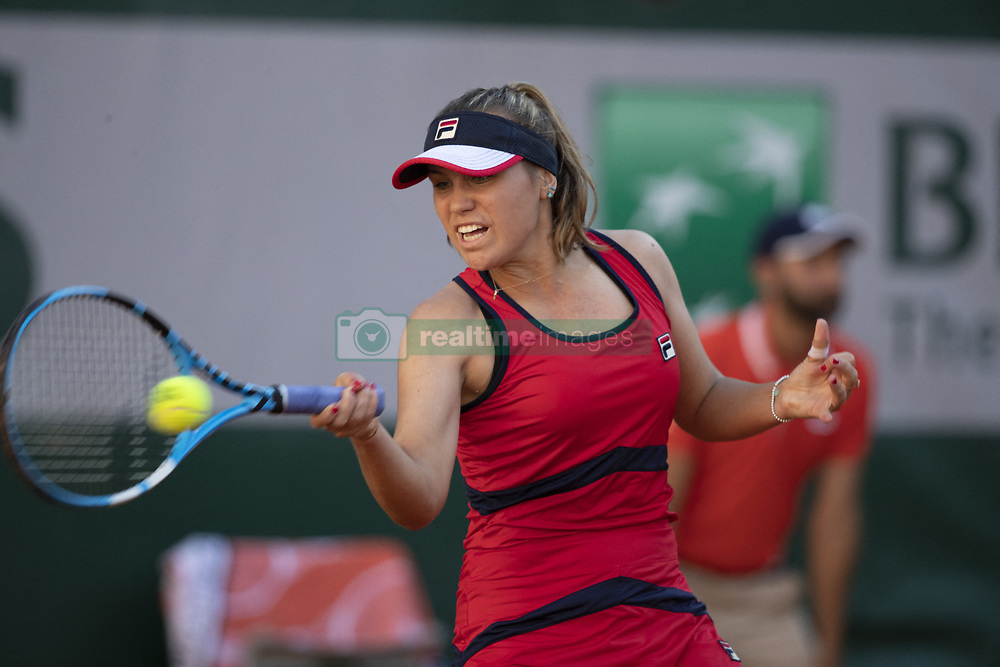 Sofia Kenin in action during French Tennis Open Day 7 at Roland-Garros arena on June 01, 2019 in Paris, France. Photo by Loic Baratoux/ABACAPRESS.COM