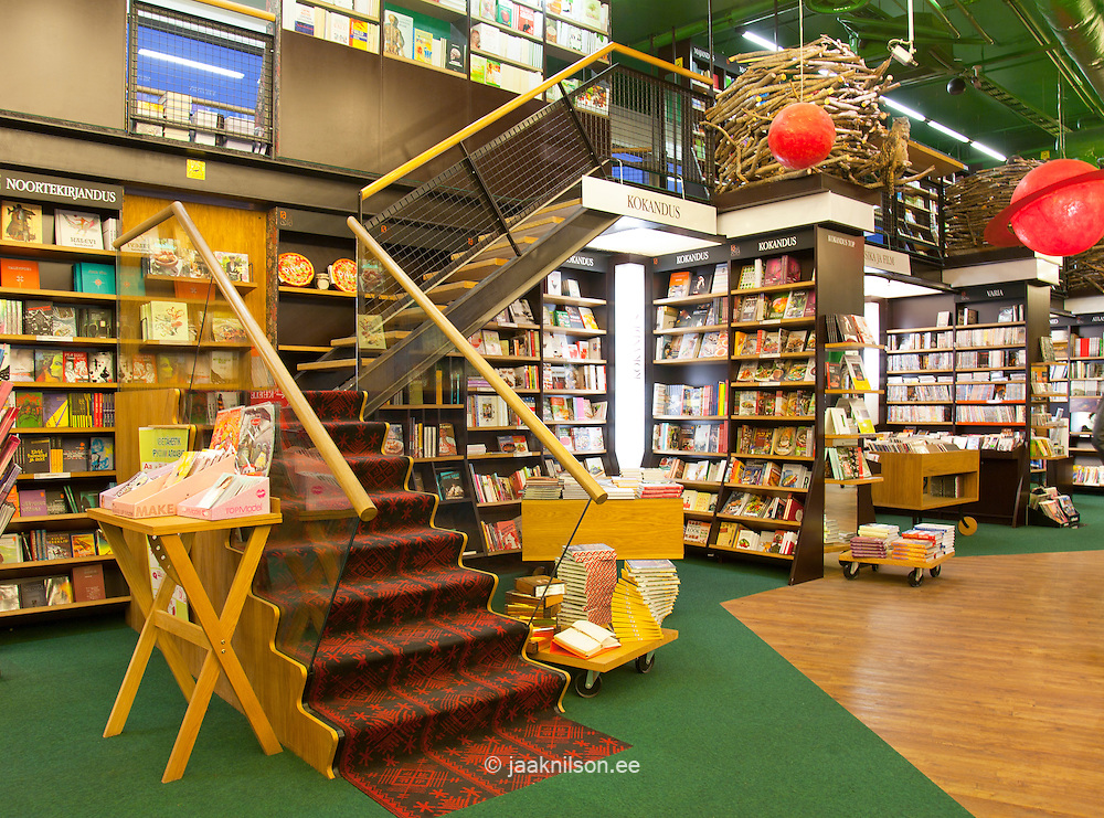 stairs in bookstore