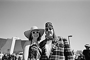 A portrait of a retro couple dressed in 50's stlye, Viva Las Vegas Festival, Las Vegas, USA 2006,