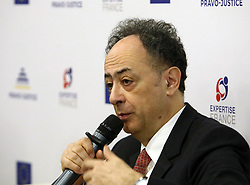 March 26, 2019 - Kyiv, Ukraine - Head of the European Union Delegation to Ukraine Hugues Mingarelli addresses the attendees of the Annual Congress of Regional Justice Reform Councils, Kyiv, capital of Ukraine, March 26, 2019. The Pravo-Justice Project has set up Regional Justice Reform Councils in six Ukrainian regions which contribute to policy-making in judicial reform at the local level. Ukrinform. (Credit Image: © Tarasov/Ukrinform via ZUMA Wire)