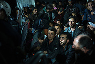 Migrants, mostrly form Syria waiting to cross the Greek Macedonian border next to the Greek Village of Idomeni, Greece. FEDERICO SCOPPA/CAPTA