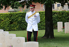 MAY 19 2014 Prince Harry at Monte Cassino