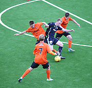 Dundee's Josh Skelly is outnumbered by Dundee United defenders - Dundee v Dundee United under 20s<br /> <br />  - &copy; David Young - www.davidyoungphoto.co.uk - email: davidyoungphoto@gmail.com