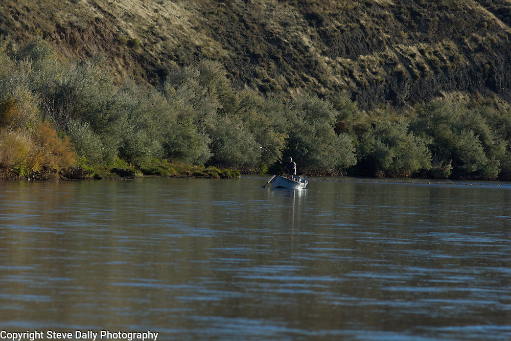 Drift Boat on the Big Horn River outside Thermopolis in Wyoming