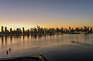 Dawn Manhattan, View From Roof,  Nine on the Hudson, West New York, NJ