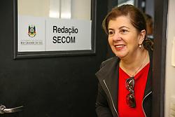 Maria Helena Sartori visita a Central de Imprensa 38ª Expointer, que ocorrerá entre 29 de agosto e 06 de setembro de 2015 no Parque de Exposições Assis Brasil, em Esteio. FOTO: Pedro H. Tesch/ Agência Preview