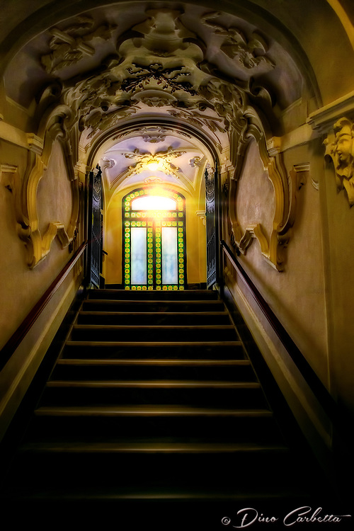 """Divine ascent from the crypt of the Basilica of Sant'Antonino in Sorrento""..."
