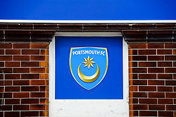 A view of a Portsmouth sign outside the ground  - Photo mandatory by-line: Rogan Thomson/JMP - 07966 386802 - 19/04/2014 - SPORT - FOOTBALL - Fratton Park, Portsmouth - Portsmouth FC v Bristol Rovers - Sky Bet Football League 2.