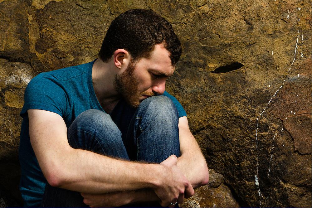 Liam Mulshine crying outdoors