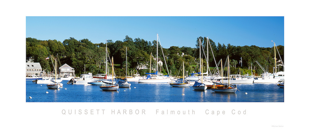 Quissett Harbor Panoramic Poster<br /> Falmouth, Cape Cod<br /> <br /> 10&quot; x24&quot; Panoramic Poster<br /> <br /> $20.00