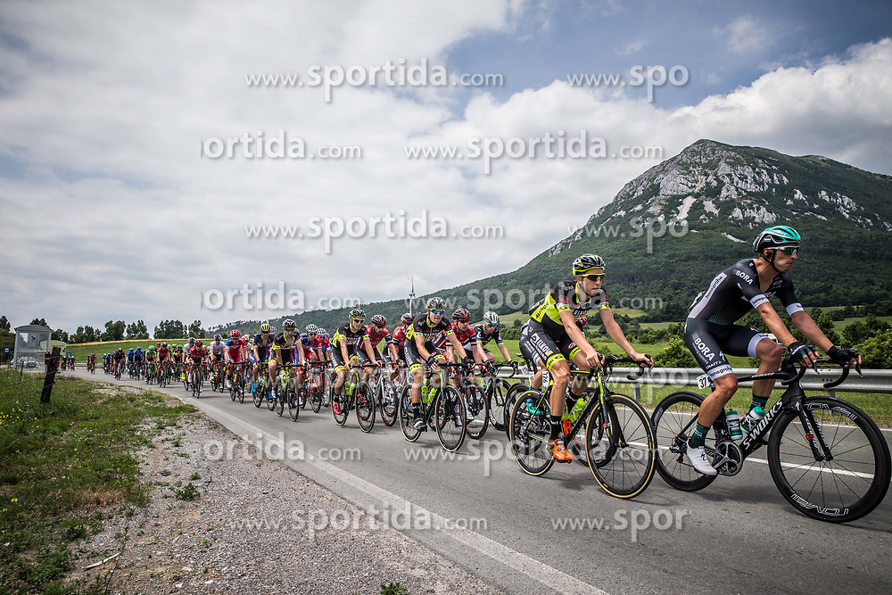 Josef Cerny (CZE) of Elkov-Author Cycling team, Ruediger Selig (GER) of Bora - Hansgrohe during Stage 1 of 24th Tour of Slovenia 2017 / Tour de Slovenie from Koper to Kocevje (159,4 km) cycling race on June 15, 2017 in Slovenia. Photo by Vid Ponikvar / Sportida
