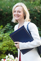Downing Street, London, September 13th 2016. Justice Secretary and Lord Chancellor Liz Truss arrives for the weekly cabinet meeting at Downing Street.