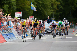 Marianne Vos wins the sprint for second place ahead of Emilia Fahlin at Thüringen Rundfarht 2016 - Stage 2 a 103km road race starting and finishing in Erfurt, Germany on 16th July 2016.