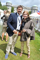 MARK STEWART and his mother LADY STEWART at a luncheon hosted by Cartier for their sponsorship of the Style et Luxe part of the Goodwood Festival of Speed at Goodwood House, West Sussex on 1st July 2012.