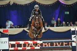 Liebherr Christina, (SUI), LB Akteur<br /> Preis von JJ Darboten Jumping München 2015<br /> © Hippo Foto - Stefan Lafrentz