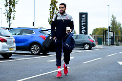 Lewis Champion of Bristol Flyers heads towards the bus before leaving the Village Hotel to travel to Worcester Wolves - Photo mandatory by-line: Ryan Hiscott/JMP - 01/11/2019 - BASKETBALL - University of Worcester - Bristol, England - Worcester Wolves v Bristol Flyers - British Basketball League Cup