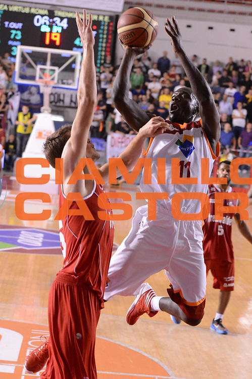 DESCRIZIONE : Roma Lega A 2012-13 Acea Roma Trenkwalder Reggio Emilia<br /> GIOCATORE : Adeola Dagunduro<br /> CATEGORIA : equilibrio tiro<br /> SQUADRA : Acea Roma<br /> EVENTO : Campionato Lega A 2012-2013 <br /> GARA : Acea Roma Trenkwalder Reggio Emilia<br /> DATA : 14/10/2012<br /> SPORT : Pallacanestro <br /> AUTORE : Agenzia Ciamillo-Castoria/GiulioCiamillo<br /> Galleria : Lega Basket A 2012-2013  <br /> Fotonotizia : Roma Lega A 2012-13 Acea Roma Trenkwalder Reggio Emilia<br /> Predefinita :