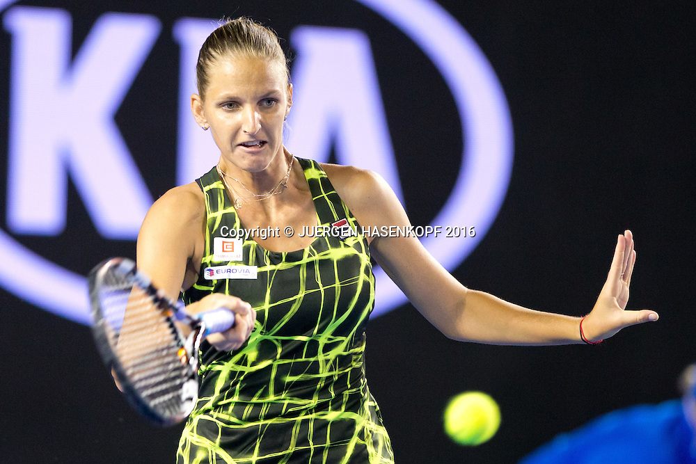Karolina Pliskova, Australian Open 2016<br /> <br /> Tennis - Australian Open 2016 - Grand Slam ITF / ATP / WTA -  Melbourne Park - Melbourne - Victoria - Australia  - 21 January 2016.
