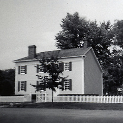 1967:  Home of Joe Smith, founder of the Mormon's Navoo settlement in western Illinois over looking the Mississippi River...Image taken by a pre-teen boy during the year listed in caption,  scanned and adjusted in PhotoShop.  Image was shot with a Kodak Hawkeye 126 Instamatic camera..