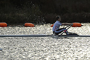 Caversham, Nr Reading, GREAT BRITAIN, Ian LAWSON, BIRO Sculling Test, invited scullers, under go a time trial and then a six abreast race over 2000 meters at the British International Rowing complex at Caversham Lake, on Wed 22.11. 2006. [Photo, Peter Spurrier/Intersport-images]. Rowing course: GB Rowing Training Complex, Redgrave Pinsent Lake, Caversham, Reading