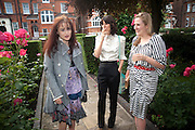 HELENA BONHAM CARTER; BELLA FREUD; SUSIE BOYT, Freud Museum dinner, Maresfield Gardens. 16 June 2011. <br /> <br />  , -DO NOT ARCHIVE-© Copyright Photograph by Dafydd Jones. 248 Clapham Rd. London SW9 0PZ. Tel 0207 820 0771. www.dafjones.com.