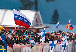 24.11.2017, Nordic Arena, Ruka, FIN, FIS Weltcup Langlauf, Nordic Opening, Kuusamo, im Bild Zuschauer mit russischer Flagge // Spectators with Russian flag during the FIS Cross Country World Cup of the Nordic Opening at the Nordic Arena in Ruka, Finland on 2017/11/24. EXPA Pictures © 2017, PhotoCredit: EXPA/ JFK