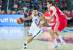 Kostas Sloukas of Greece vs Mario Hezonja of Croatia during basketball match between Greece and Croatia at Day 2 in Group C of FIBA Europe Eurobasket 2015, on September 6, 2015, in Arena Zagreb, Croatia. Photo by Vid Ponikvar / Sportida