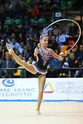Laura Paris atleta della Società Moderna Legnano durante la seconda prova del Campionato Italiano di Ginnastica Ritmica.<br /> La gara si è svolta a Desio il 31 ottobre 2015.