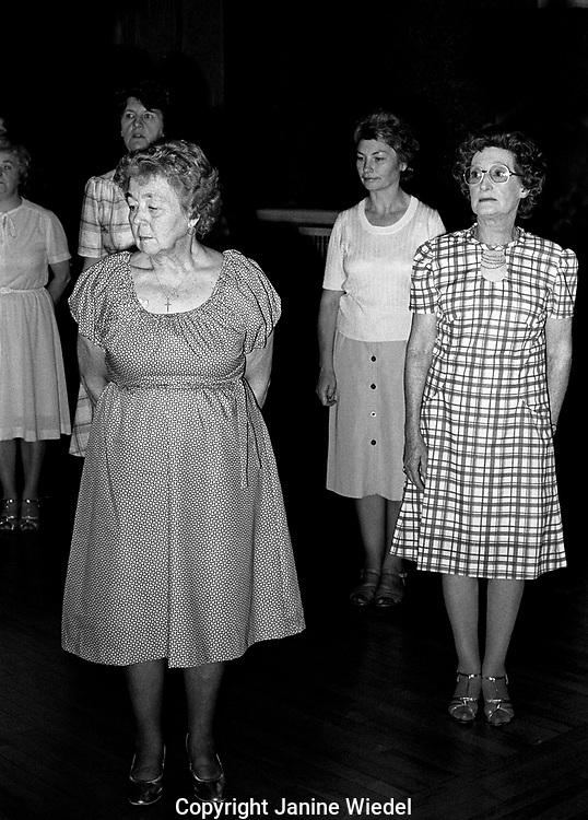 Women Tea dancing in the Midlands of England in the 1970s