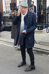 © Licensed to London News Pictures. 27/04/2017. London, UK. SIR IAN MCKELLEN attends the unveiling of an English Heritage Blue Plaque at the London home of Sir John Gielgud where he lived for 31 years. Photo credit: Ray Tang/LNP