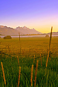 Crisp August morning in Jackson Hole after the 1st cutting of hay in 2011.