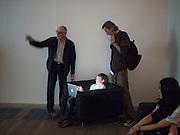RICHARD WENTWORTH; ELLIOT ALYS; FRANCIS ALYS; , A story of Deception. Exhibition of work by Francis Alys. Tate Modern. London. 14 June 2010. -DO NOT ARCHIVE-© Copyright Photograph by Dafydd Jones. 248 Clapham Rd. London SW9 0PZ. Tel 0207 820 0771. www.dafjones.com.