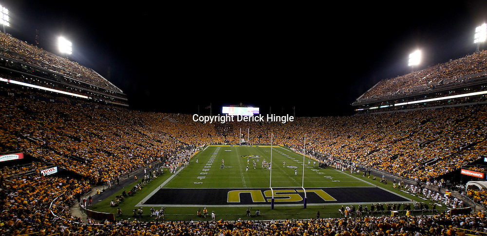 Sep 18, 2010; Baton Rouge, LA, USA;  A general view from the stands during the second half of a game between the Mississippi State Bulldogs and LSU Tigers at Tiger Stadium. The LSU Tigers defeated the Mississippi State Bulldogs 29-7. Mandatory Credit: Derick E. Hingle