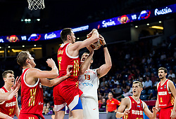 Vitaly Fridzon of Russia vs Marc Gasol of Spain during basketball match between National Teams  Spain and Russia at Day 18 in 3rd place match of the FIBA EuroBasket 2017 at Sinan Erdem Dome in Istanbul, Turkey on September 17, 2017. Photo by Vid Ponikvar / Sportida