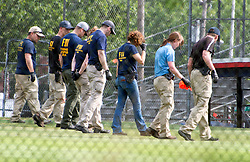 There is crime scene activity after a gunman opened fire on members of Congress who were practicing for the annual Congressional baseball game in Alexandria, Virginia. 14 Jun 2017 Pictured: General View. Photo credit: Ron Sachs / CNP / MEGA TheMegaAgency.com +1 888 505 6342