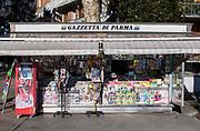 PARMA 2016-12-22:  REPORTAGE PARMA CALCIO.<br /> Kiosken utanf&ouml;r Stadio Ennio Tardini. <br /> Foto: Nils Petter Nilsson