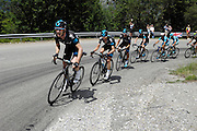 Thursday 11 June, 2015: Images from just past the 4km to go banner on the ascent to Pra Loup during stage 5 of the 2015 edition of the Criterium du Dauphine cycle race.
