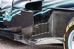 May 23, 2018 - Montecarlo, Monaco - Mercedes W09 Hybrid EQ Power+ team Mercedes GP aerodynamic detail of the siepods during the Monaco Formula One Grand Prix  at Monaco on 23th of May, 2018 in Montecarlo, Monaco. (Credit Image: © Xavier Bonilla/NurPhoto via ZUMA Press)