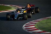 March 7-10, 2017: Circuit de Catalunya. Lewis Hamilton (GBR), Mercedes AMG Petronas Motorsport, F1 W08, Max Verstappen (DEU), Red Bull Racing, RB13