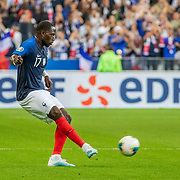 PARIS, FRANCE - September 10:  Moussa Sissoko #17 of France in action during the France V Andorra, UEFA European Championship 2020 Qualifying match at Stade de France on September 10th 2019 in Paris, France (Photo by Tim Clayton/Corbis via Getty Images)