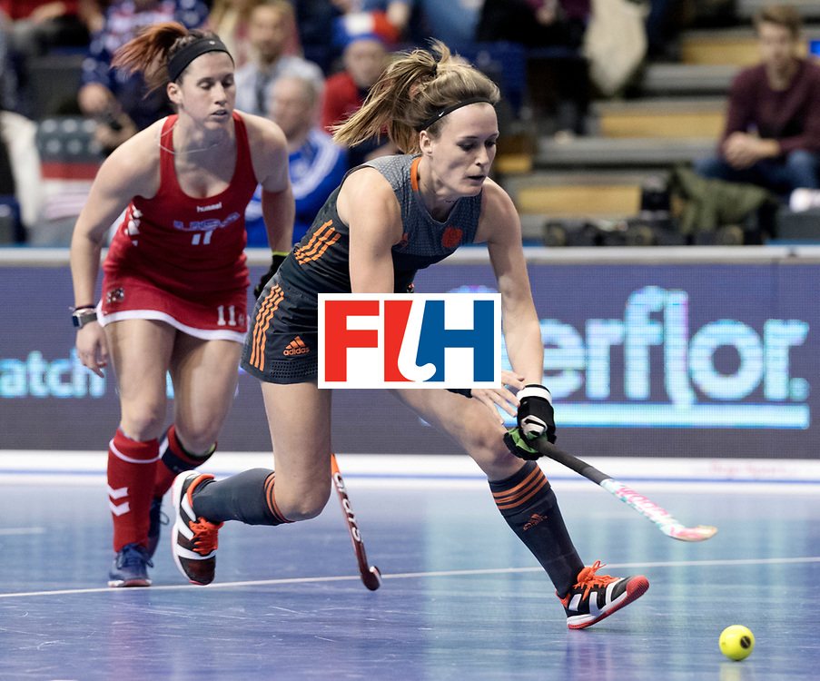 BERLIN - Indoor Hockey World Cup<br /> Women: Netherlands - United States<br /> foto: Donja Zwinkels.<br /> WORLDSPORTPICS COPYRIGHT FRANK UIJLENBROEK