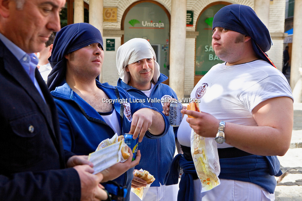 `Costaleros´(penitents-carriers). Holy Week. Seville. Spain