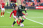 Forest Green Rovers Dayle Grubb(8) on the ball during the EFL Sky Bet League 2 match between Crewe Alexandra and Forest Green Rovers at Alexandra Stadium, Crewe, England on 27 April 2019.