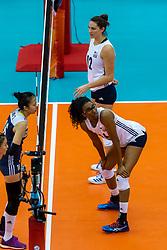 14-10-2018 JPN: World Championship Volleyball Women day 15, Nagoya<br /> China - United States of America 3-2 / Foluke Akinradewo #16 of USA, Kelly Murphy #12 of USA