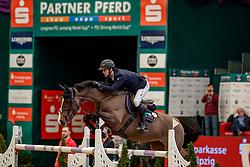 TWOMEY Billy (IRL), Lady Lou<br /> Leipzig - Partner Pferd 2020<br /> Championat von Leipzig<br /> Springprfg. mit Stechen, international<br /> Höhe: 1.50 m<br /> 18. Januar 2020<br /> © www.sportfotos-lafrentz.de/Stefan Lafrentz