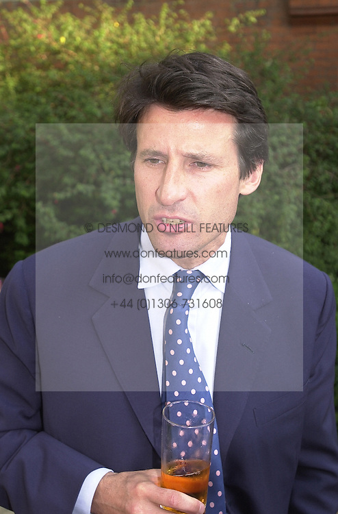 LORD COE, he is Sebastian Coe the former Olympic athlete,<br />  at a reception in London on 19th June 2000.OFM 40<br /> © Desmond O'Neill Features:- 020 8971 9600<br />    10 Victoria Mews, London.  SW18 3PY <br /> www.donfeatures.com   photos@donfeatures.com<br /> MINIMUM REPRODUCTION FEE AS AGREED.<br /> PHOTOGRAPH BY DOMINIC O'NEILL