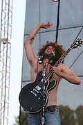 Wolfmother perform during the fourth day of the 2007 Bonnaroo Music & Arts Festival on June 17, 2007 in Manchester, Tennessee. The four-day music festival features a variety of musical acts, arts and comedians..Photo by Bryan Rinnert